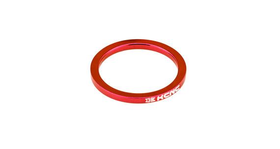 """KCNC Headset Spacer 1 1/8"""" 8mm rød"""